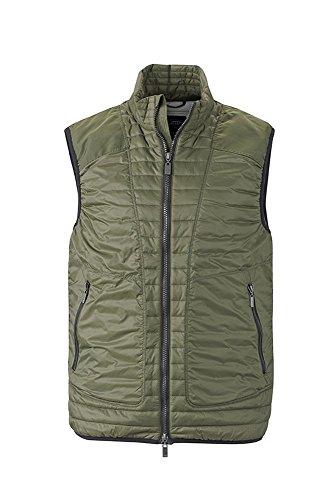 Dettagli Olive Vest Alla Men's Moda Gilet Trapuntato silver Con Lightweight 4Sxq1FgEw
