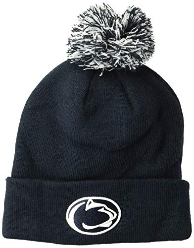 ZHATS NCAA Penn State Nittany Lions Pom Knit Beanie, Adjustable, Team Color