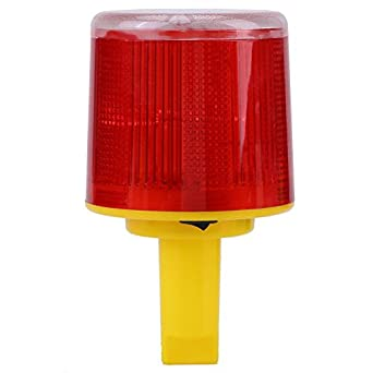 Solar LED luz de flash lámpara de alarma de alerta de ...