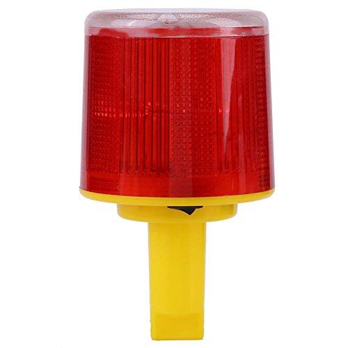 Solar Beacon Strobe Light LED Waterproof Emergency Warning Flash Light Alarm Lamp Road Red Light for Car Truck Vehicle Boat