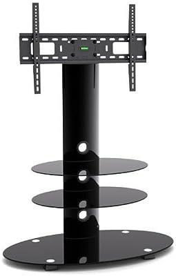 G-VO negro cristal y Metal soporte para televisor con 3 negro baldas de vidrio templado y giro soporte para 32 pulgadas a pulgadas LED, LCD TV de Plasma: Amazon.es: Electrónica