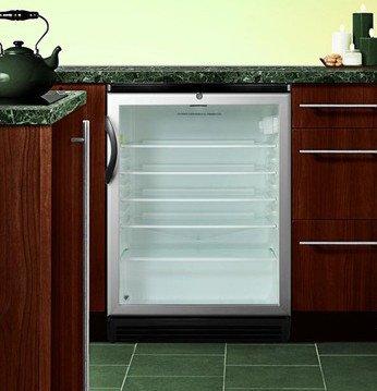 Summit SCR600BLBIHV Beverage Refrigeration, Glass/Black