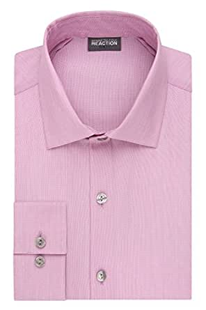 Kenneth cole reaction men 39 s technicole slim fit stretch for Spread collar slim fit dress shirts