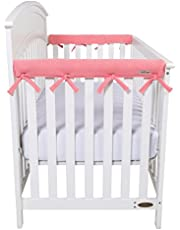 Trend Lab Fleece CribWrap Rail Covers for Crib Sides (Set of 2)
