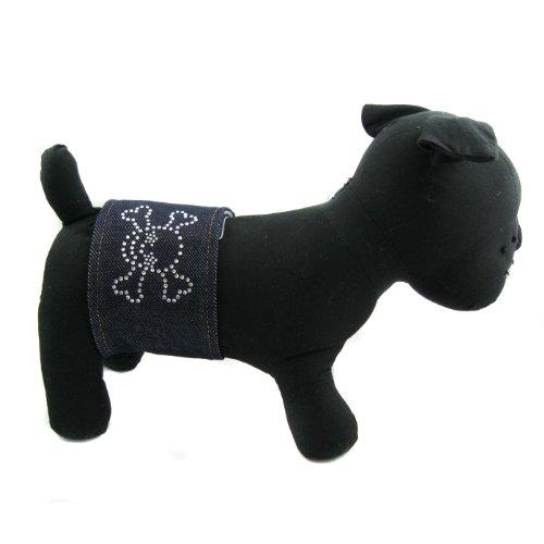 Alfie Couture Designer Pet Accessory – Rox Denim Belly Band – Size: M, My Pet Supplies