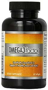 Factor Omega 3 Factor Ultra Refined Fish Oil USP , 60 softgels