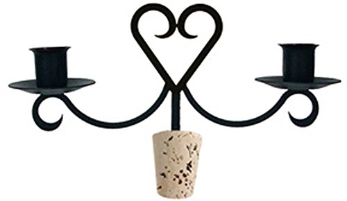 Iron Heart Taper Candle Holder Wine Bottle Top Candelabra...
