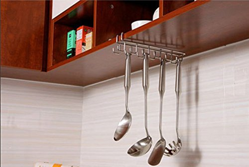 Essort Mug Hooks, 10 Hooks Under Shelf Mugs Cups Wine Glasse