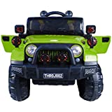 Toy House Off Roader Jeep Rechargeable Battery Operated Ride-on for Kids(2 to 6yrs), Green