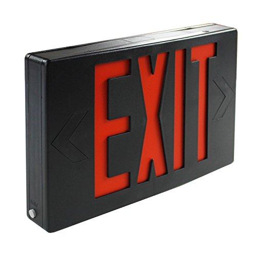 eTopLighting FD3SCR-B 1PCS LED Exit Sign Emergency Light Lighting Emergency LED Light / Modern Battery Backup UL924 / Battery Back-up / Black / Red Letter, V-PL1119