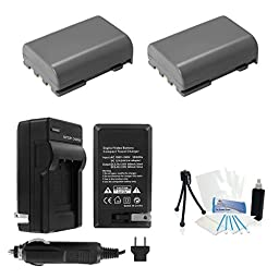 NB-2L / NB-2LH Battery 2-Pack Bundle with Rapid Travel Charger and UltraPro Accessory Kit for Select Canon Cameras Including EOS Digital Rebel XT, XTi, EOS 350D, and 400D