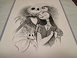 "Welcome to our amazon store!!! We are glad you stopped to look at our items. This item is for one: 11"" x 17"" JACK AND SALLY THE NIGHTMARE BEFORE CHRISTMAS , limited edition print ! DAVE NESTLER The artist who created this wonderful print of the origi..."