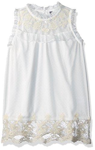 (Beautees Girls' Big Sleeveless Victorian Top, Natural, Large)