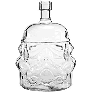 AUTHOME Transparent Creative Star Wars 700ml Whiskey Flask Carafe Decanter,Stormtrooper Glass Bottle ,Wine Decanters,Whiskey Carafe,Awakens Helmet Glass Cup Heat-Resistance Cup or Whisky, Beer, Brandy