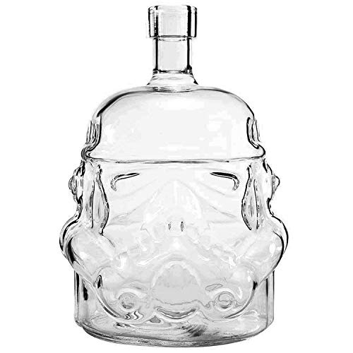 AUTHOME Transparent Creative Star Wars 700ml Whiskey Flask Carafe Decanter,Stormtrooper Glass Bottle ,Wine Decanters,Whiskey Carafe,Awakens Helmet Glass Cup Heat-Resistance Cup or Whisky, Beer,