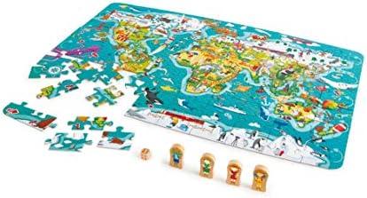 Hape- Puzzle la vuelta al mundo 2 en 1, Color carbón (E1626) , color/modelo surtido: Amazon.es: Juguetes y juegos