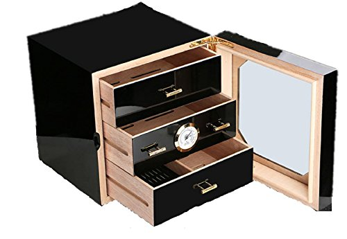 Beneking High-end Chic Small Three-layer High Light Lacquer Cigar Box by Beneking