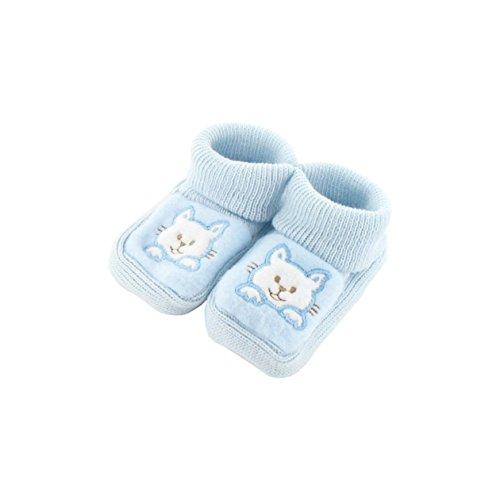 zapatitos de bebé 0-3 meses Azul - Patrón gatito