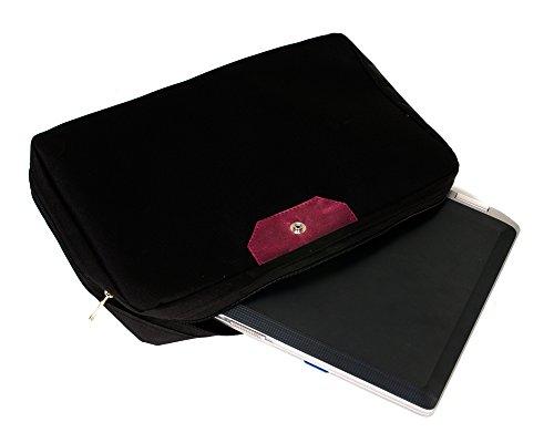 Solier para hombre piel bandolera para portátil Macbook Premium bolsa S04 marrón marrón