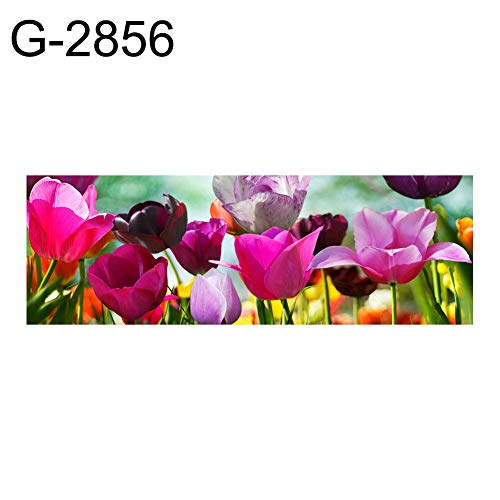 lightclub 30x80cm Tulip Sunflower Cross Stitch Craft Mosaic Full Round Diamond Painting - G-2856
