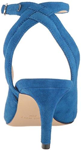 Nove Donne Ovest Shawn Camoscio Pompa Vestito Blu