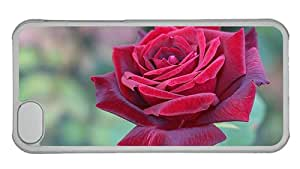 Cheap iphone waterproof cases Beautiful red rose flower close up PC Transparent for Apple iPhone 5C