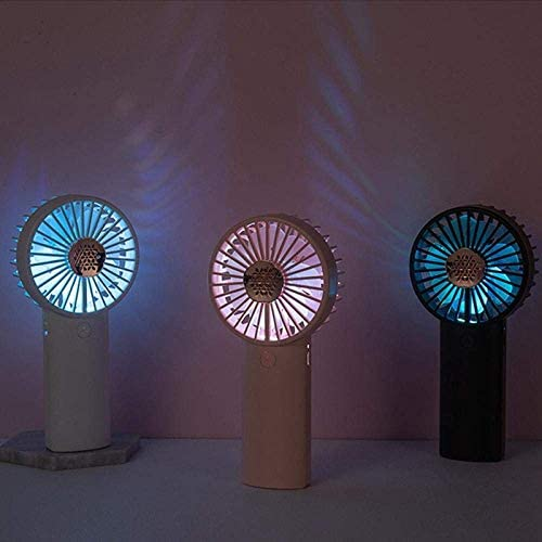 LQH Mini Ventilatore tenuto in Mano Ventilatore Portatile con aromaterapia USB Luce Ricaricabile Adatto for la casa Ufficio LED