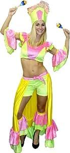 Aptafêtes disfraz brasileña purpurina