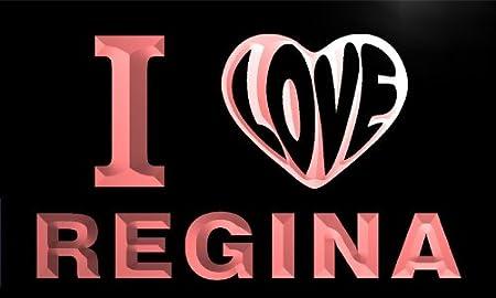 Vg0168 R I Love You Regina Wedding Gift Night Light Room Decor Neon