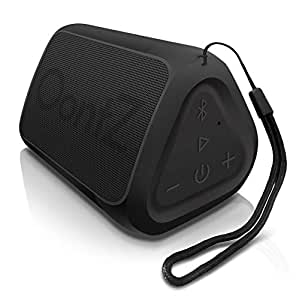 OontZ Angle Solo Portable Bluetooth Speaker, Compact Size, Surprisingly Loud and Rich Bass, 100 Ft Wireless Range, IPX-5, Perfect Travel Accessories, Bluetooth Speakers by Cambridge SoundWorks (Black)