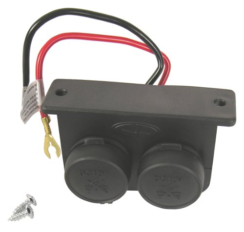 Custom Accessories 10242 Auxiliary Twin Power (12 Volt Accessory Receptacle)