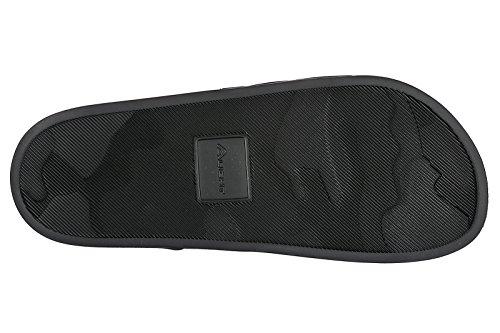 DSQUARED2 Schwarze Sandalen mit Weiß Logo Frühling-Sommer 2018