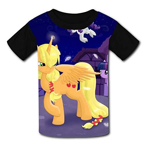 My Friend Unicorn Pony Children T-Shirts Crew Neck Short Sleeve Raglan Costume Tee Shirt for Teenager -