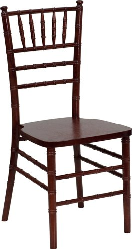 Flash Furniture YT-YJA03-MAH-GG Flash Elegance Supreme Mahogany Wood Chiavari Chair, Mahogany