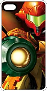 Samus Laser Canon White Rubber Case for Apple iPhone 5 or iPhone 5s