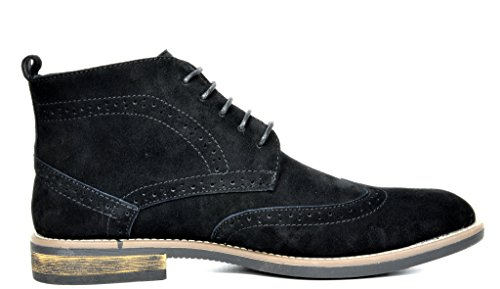 Bruno Marc Men's URBAN-02 Black Suede Leather Lace Up Oxfords Desert Boots – 12 M US