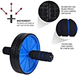 Ketsaal AB Roller, Dual-Wheel with Thick Knee Pad for Abdominal and Core Workout (Multicolor)