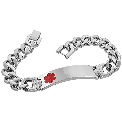 Stainless Steel Medical Bracelet inches