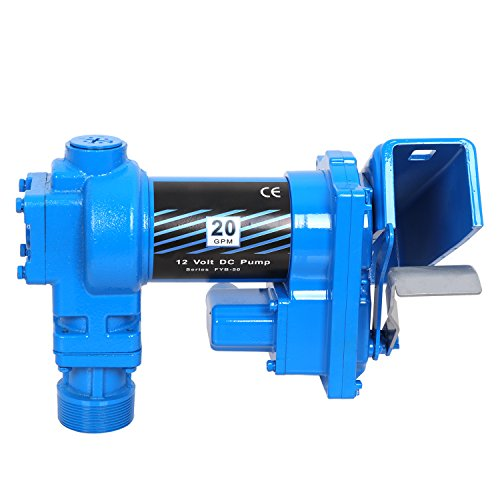 Super Deal Gasoline Fuel Transfer Pump 12 Volt DC 20GPM Gas Diesel Kerosene Nozzle Kit by SUPER DEAL (Image #2)