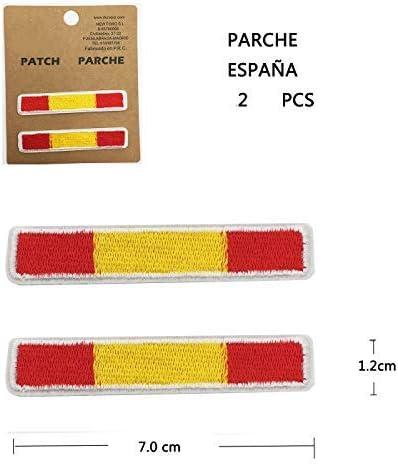 BANDERA DEL PARCHE BORDADO PARA PLANCHAR O COSER (ESPAÑA-A2 ...
