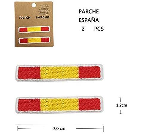 BANDERA DEL PARCHE BORDADO PARA PLANCHAR O COSER (ESPAÑA-A2): Amazon.es: Hogar