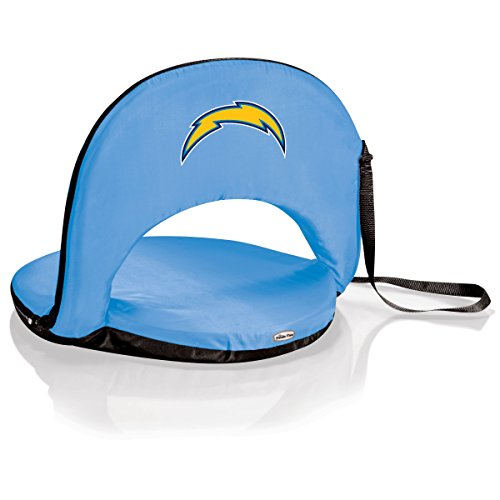 NFL Los Angeles Chargers Oniva Portable Reclining Seat, Sky Blue