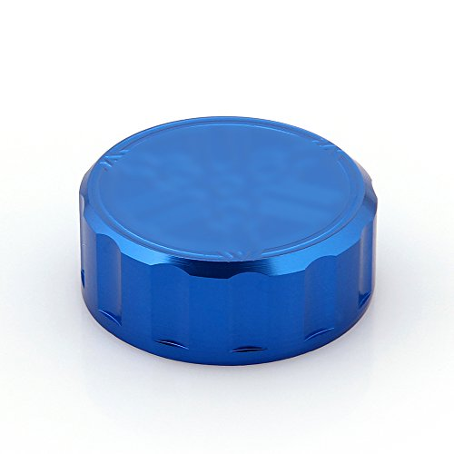 Areyourshop CNC Brake Fluid Reservoir Cap For Yamaha YZF R1 R6 All Year Blue