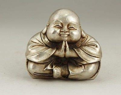 (Bronze Buddha Statue - Old Antique Tibet Tibetan Buddhist Vajrapani Buddha Bronze Statue More Style (Tibet Silver Buddha) by GTIN - 1 Pcs)