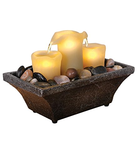 River Rock Outdoor Indoor Water Fountain With Led Light - 2