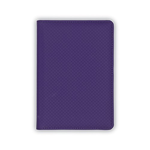 Samsill Fashion Portfolio for Women, Diamond Deboss Design, Junior Size Writing Pad, 5 x 8 inches (Purple)