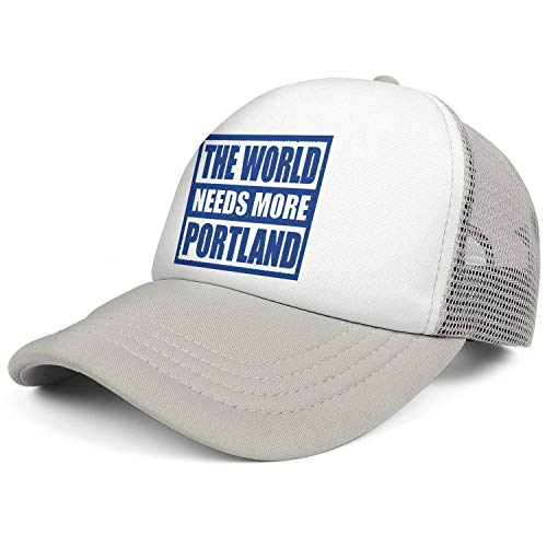 WENL The World Needs More Portland Unisex Mesh Baseball Caps Relaxed Fit Adjustable Trucker Hat -
