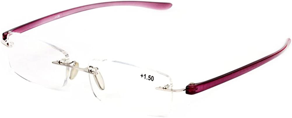Aiweijia Ultra Light Fashion Design sans monture lunettes de lecture sans cadre Lunettes de soleil avec /étui