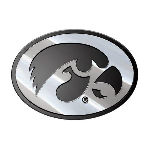 NCAA Iowa Metal Emblem, One Size
