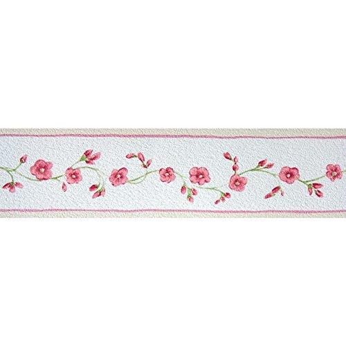 Tapetenbordüre Borte rot Blumen Ranken Petite Fleur 285481